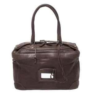 Balenciaga Brown Leather Box Satchel