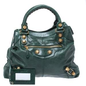 Balenciaga Vert Gazon Leather GGH Brief Bag