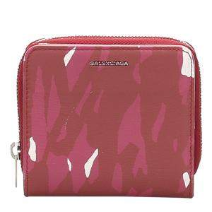 Balenciaga Red Leather Small Printed Wallet