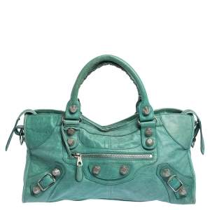Balenciaga Mint Green Leather GSH Part Time Tote