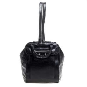 Balenciaga Black Leather RH Zip Traveler Backpack