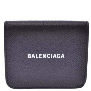 Balenciaga Black Leather Everyday Compact Bifold Wallet