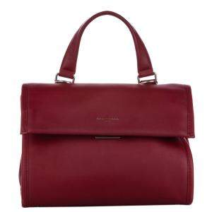 Balenciaga Red Leather Tools Satchel Bag
