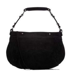 Balenciaga Black Suede Hobo Bag