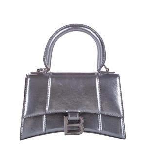 Balenciaga Metallic Leather Hourglass XS Bag