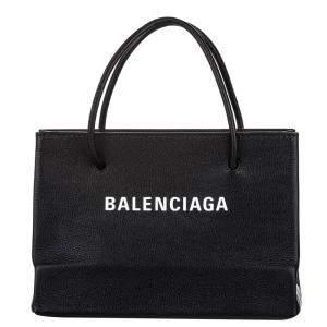 Balenciaga Black Leather Shopping S Bag