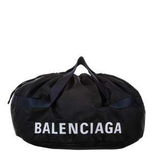 Balenciaga Navy Nylon Wheel Everyday Bag
