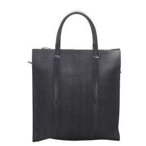 Balenciaga Blue/Navy Blue Python Leather Tote Bag