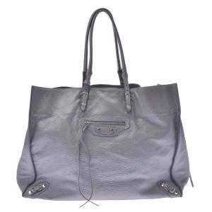Balenciaga Grey Leather Papier A4 Tote