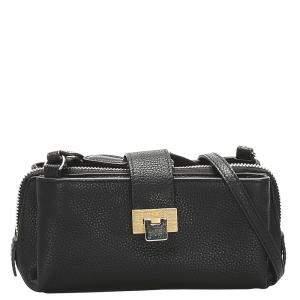 Balenciaga Black Leather Crossbody Bag