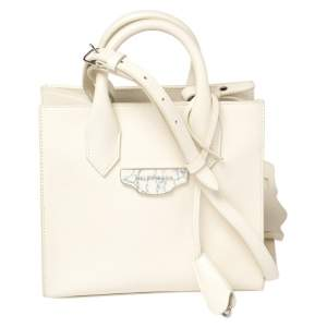 Balenciaga Off White Leather Mini All Afternoon Tote