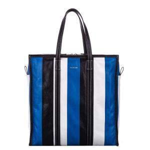 Balenciaga Multicolor Lambskin Leather M Bazar Shopper Tote Bag