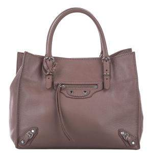 Balenciaga Brown Papier A4 Leather Satchel Bag