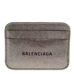 Balenciaga Metallic Glitter Patent Leather Everyday Card Holder