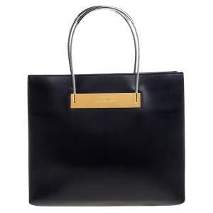 Balenciaga Black Leather Small Cable Shopper Tote