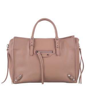 Balenciaga Brown Leather Papier A6 Zip-Around bag
