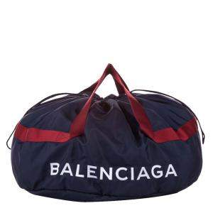 Balenciaga Blue/Black S Wheel Everyday Nylon Travel Bag