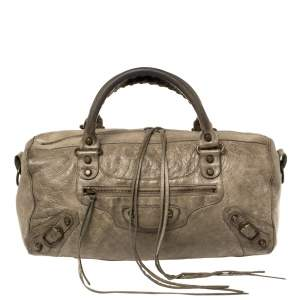 Balenciaga Dolma Leather RH Twiggy Satchel