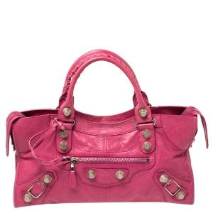 Balenciaga Cyclamen Leather GSH Part Time Tote
