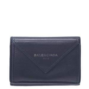 Balenciaga Black Leather  Papier Wallet