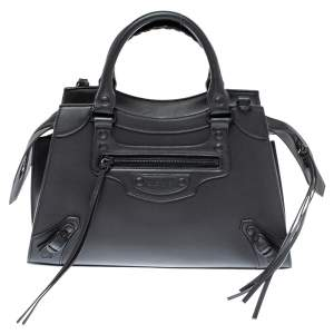 Balenciaga Black Leather Small Neo Classic City Tote