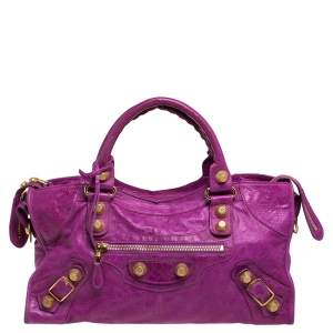 Balenciaga Dark Magenta Leather GGH Part Time Tote
