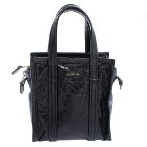 Balenciaga Black Leather XS Bazar Shopper Tote