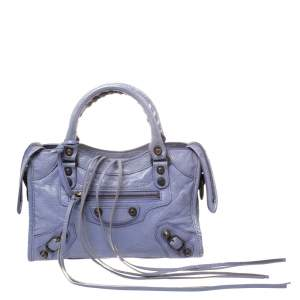 Balenciaga Glycine Leather Mini Classic City Bag