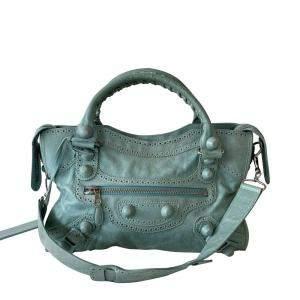Balenciaga Black Lambskin Leather Classic City Bag