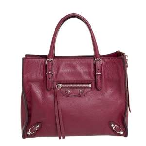 Balenciaga Ruby Leather Mini Papier A4 Tote