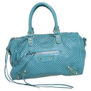 Balenciaga Papete Perforated Leather Maxi Twiggy Bag