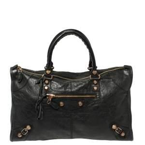 Balenciaga Black Leather GGH Work Tote
