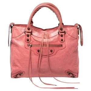 Balenciaga Rose Leather RH Velo Tote