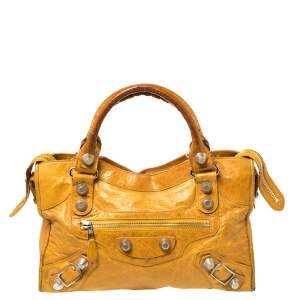 Balenciaga Mustard Leather GSH City Tote