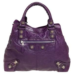 Balenciaga Raisin Leather SGH Brief Bag