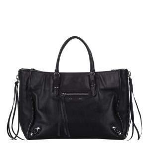 Balenciaga Black Leather Papier A6 Bag