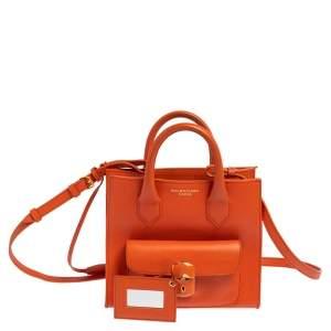 حقيبة يد بالنسياغا أول أفترنون قفل ميني جلد برتقالي