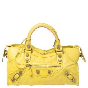 Balenciaga Yellow Sunshine Leather GSH Part Time Tote