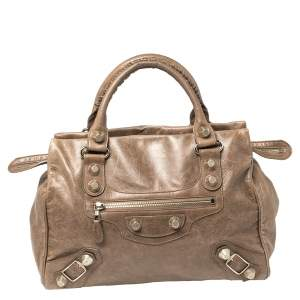 Balenciaga Noix Leather Giant 21 Midday Bag