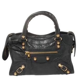 Balenciaga  Anthracite Leather Mini Classic City Bag