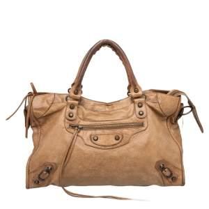 Balenciaga Caramel Chevre Leather BH City Bag