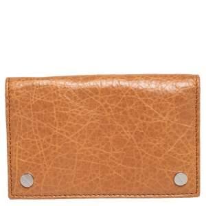 Balenciaga Cumin Leather Screw Bifold Card Holder