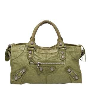 Balenciaga Green Leather GSH Part Time Tote