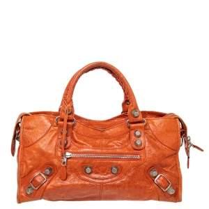 Balenciaga Mandarin Leather GSH Part Time Tote