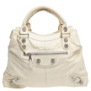 Balenciaga Cream Leather GSH Brief Tote