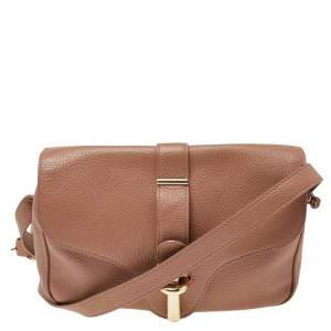 Balenciaga Beige Leather Tube S Flap Crossbody Bag