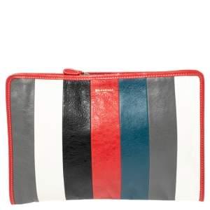 Balenciaga Multicolor Leather Bazar Pouch