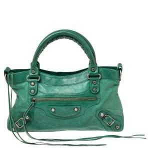 Balenciaga Green Leather First RSH Bag