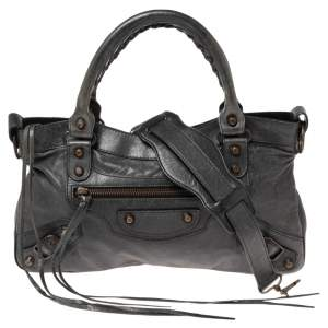 Balenciaga Anthracite Leather RH Motorcycle First Bag