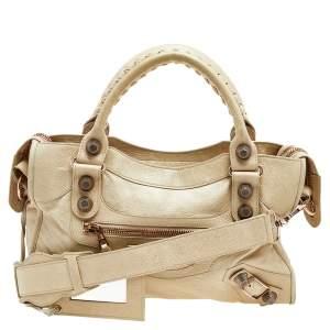 Balenciaga Beige Oryx Leather RGGH City Bag